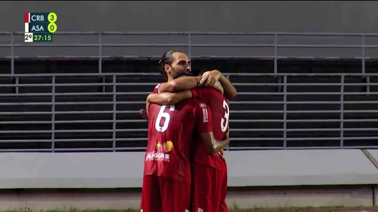 Confira os gols de CRB 4 x 0 ASA, pela 3ª rodada do Alagoano