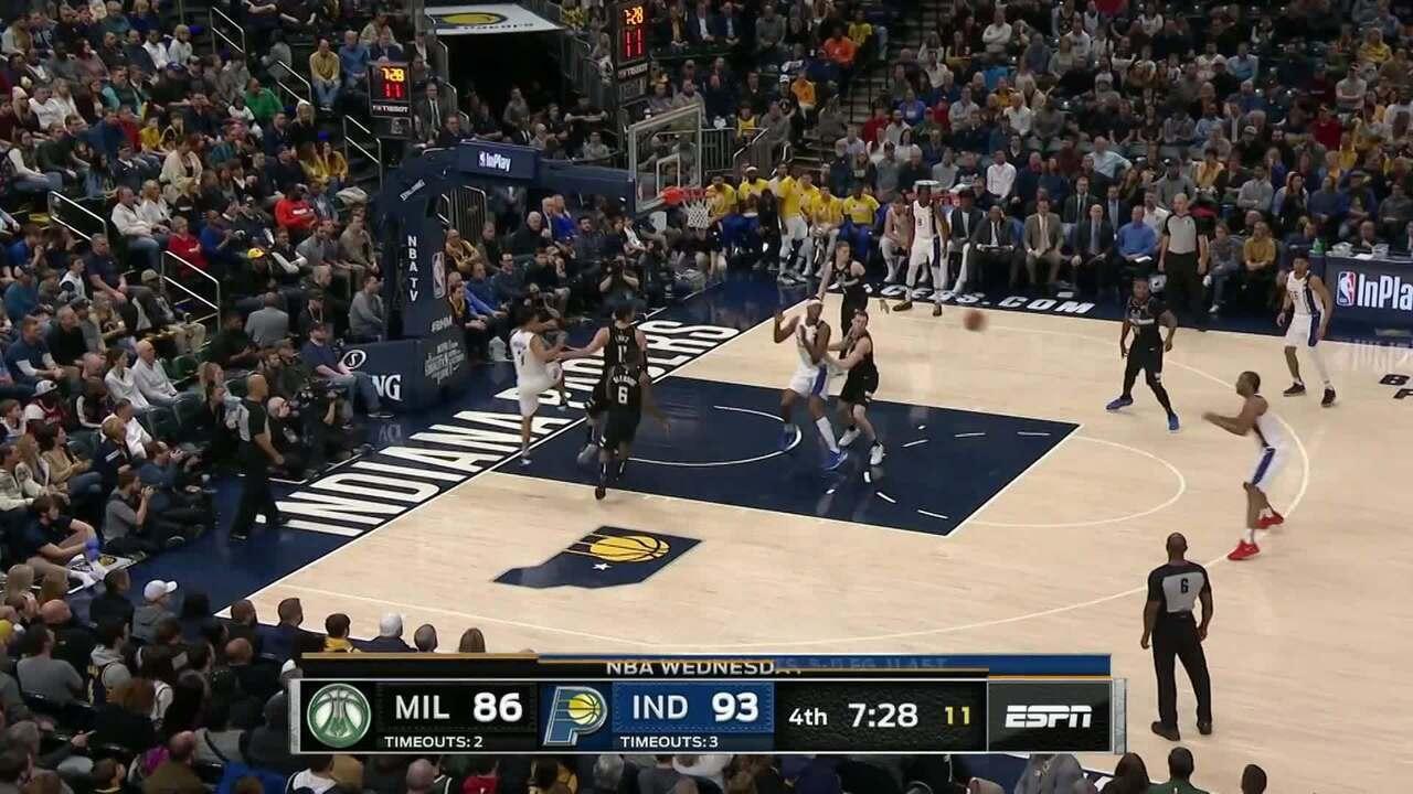 Melhores momentos: Indiana Pacers 118 x 111 Milwaukee Bucks, pela NBA