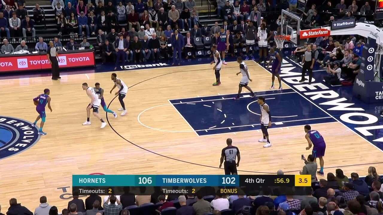 Melhores momentos: Minnesota Timberwolves 108 x 115 Charlotte Hornets, pela NBA
