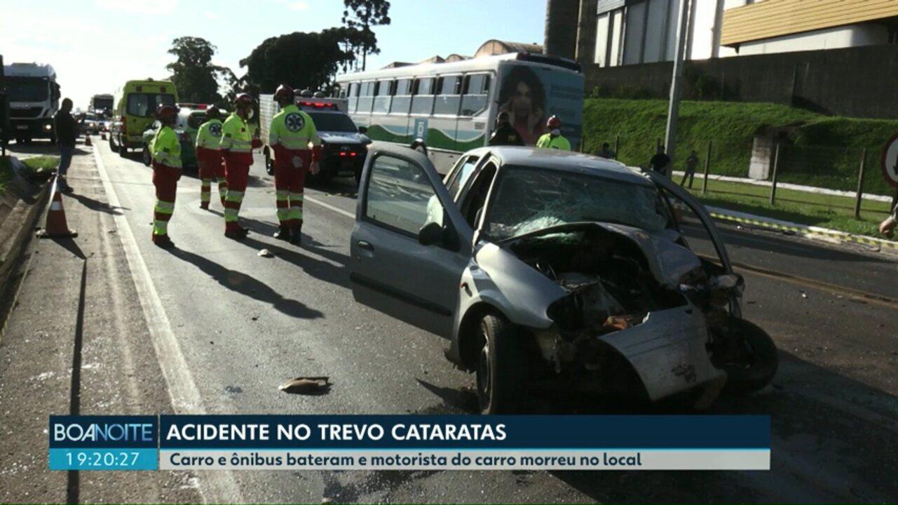Motorista de 47 anos morre em acidente no Trevo Cataratas, em Cascavel