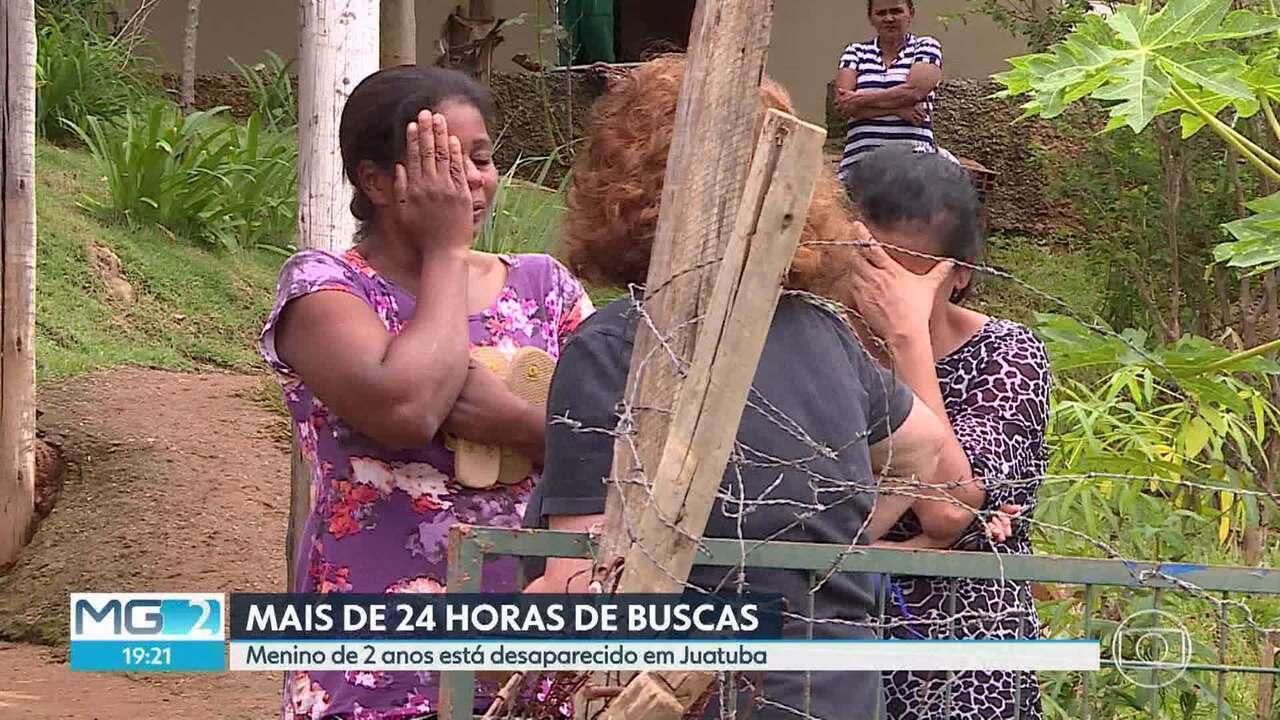 Menino de 2 anos está desaparecido, em Juatuba