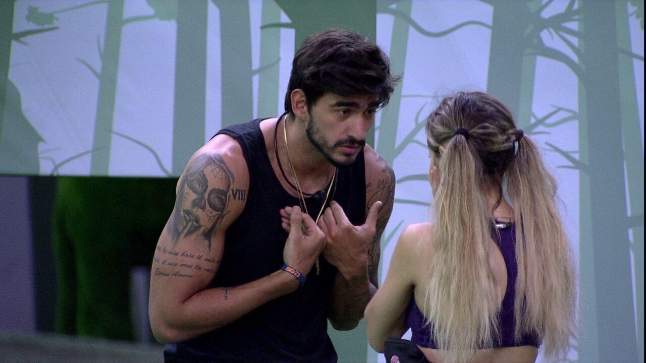Guilherme comenta com Gabi: 'Eu não consigo votar nos meninos'