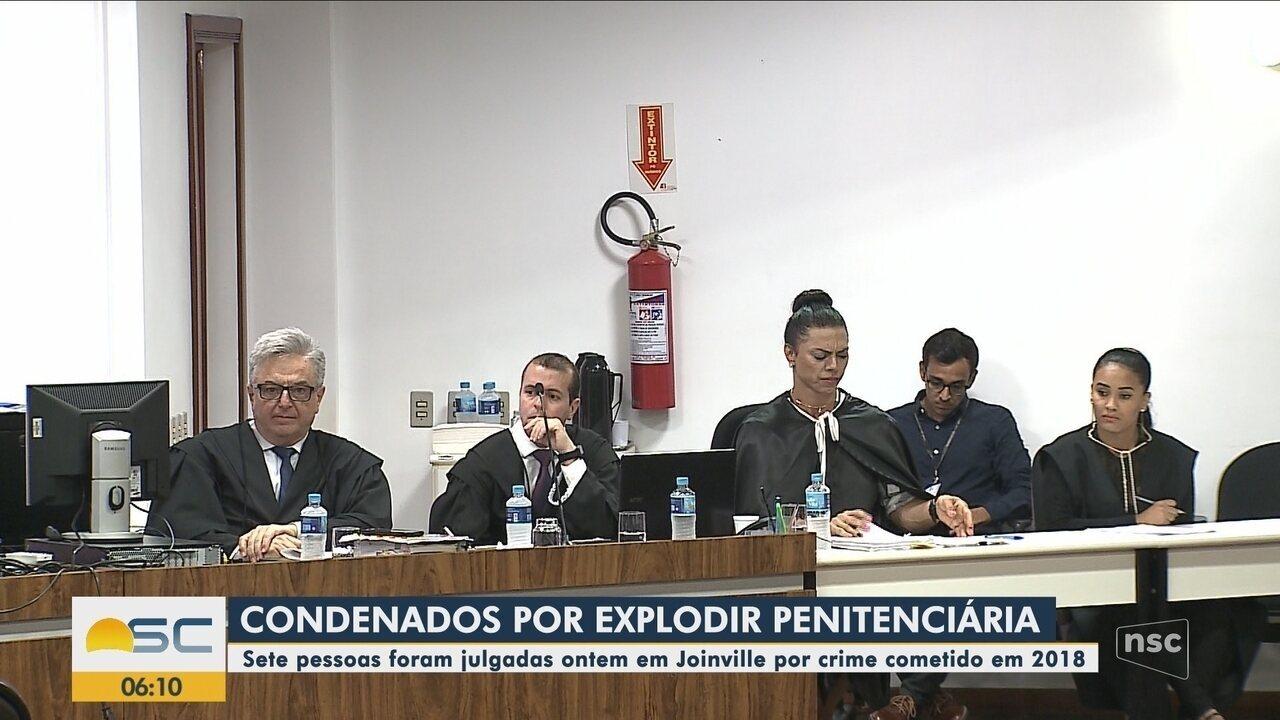 Sete pessoas são condenadas por explodir muro de penitenciária em 2018 em Joinville
