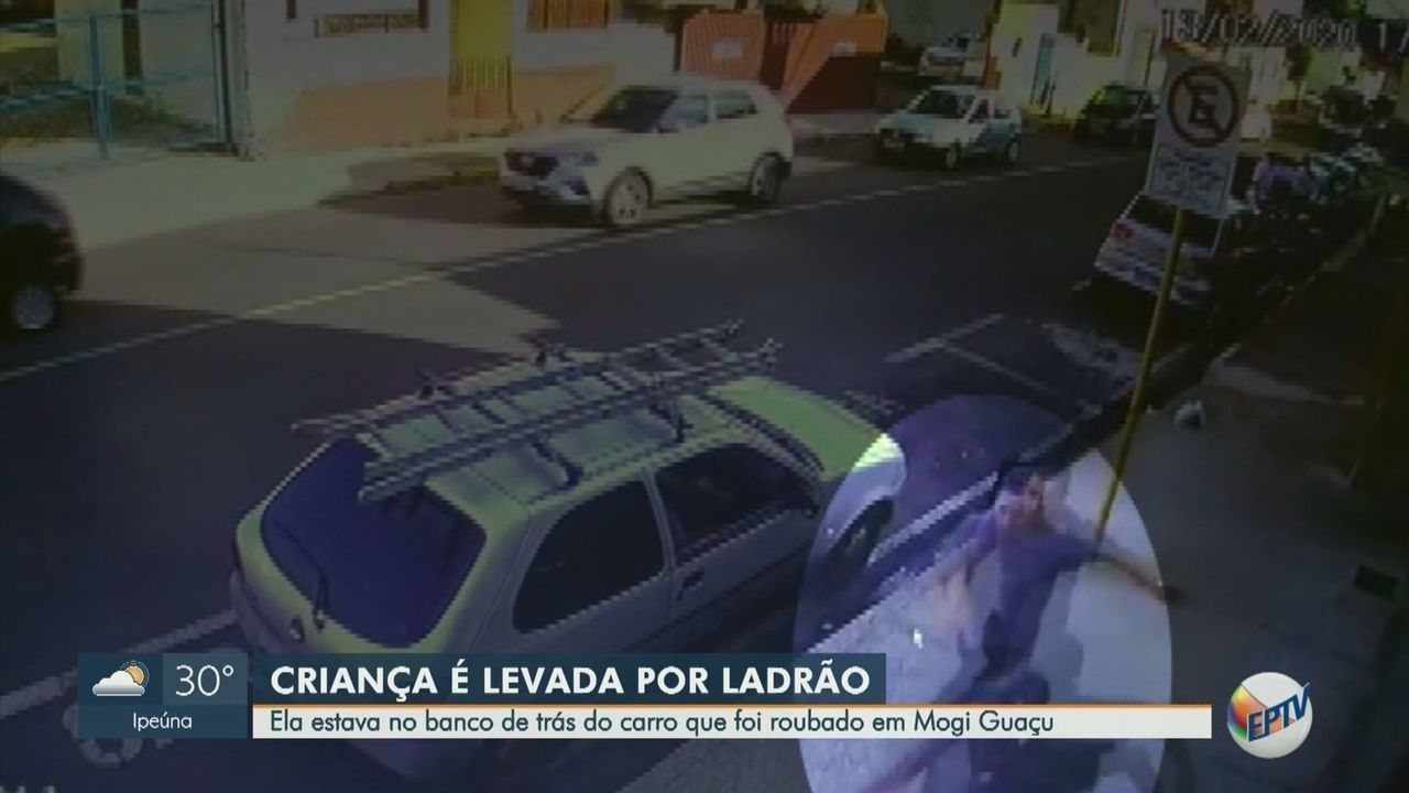 Carro é furtado e criança que estava no banco de trás é levada em Mogi Guaçu