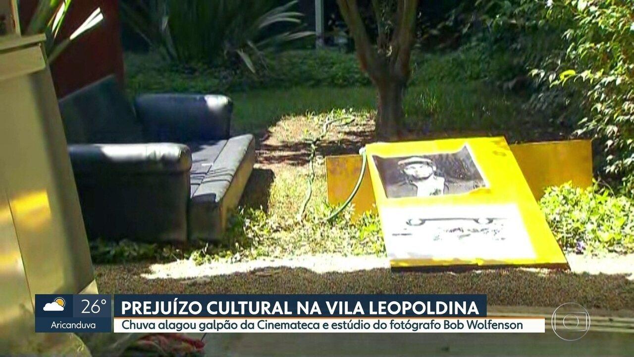 Chuva alagou galpão da Cinemateca e estúdio de fotógrafo na Vila Leopoldina