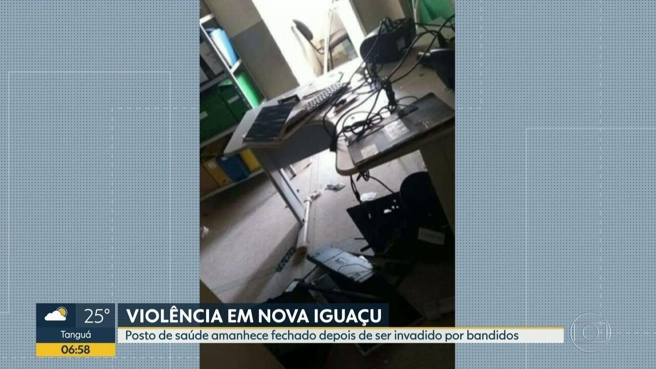 Bandidos invadem posto de saúde em Nova Iguaçu