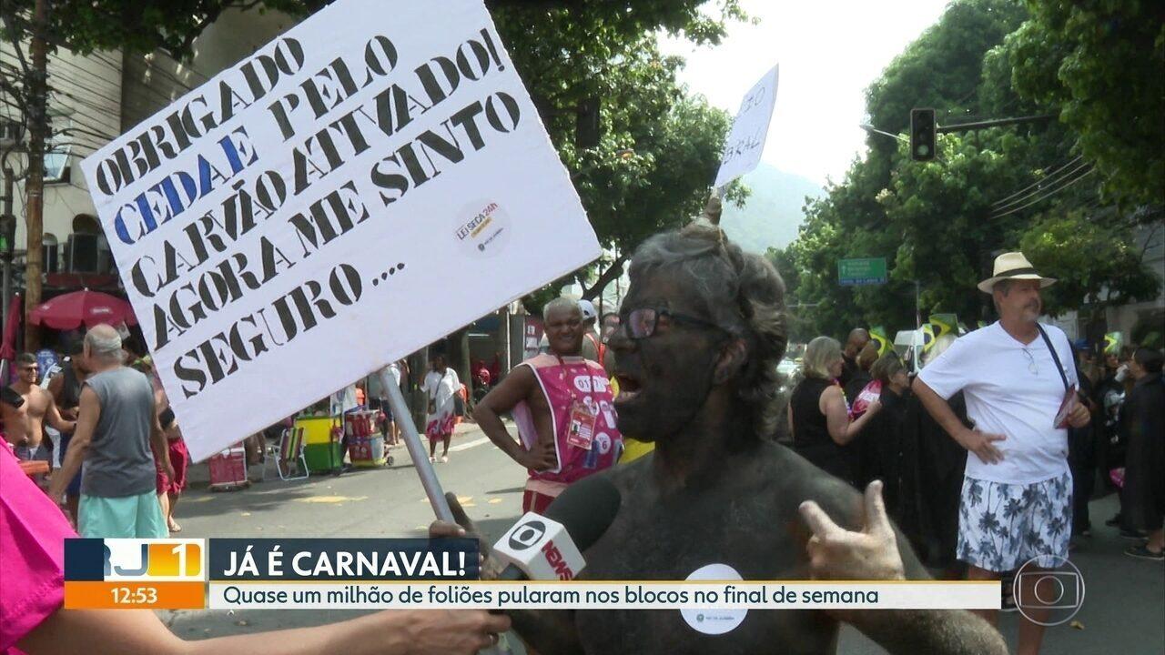 Quase um milhão de foliões curtiram blocos no pré-carnaval, o dobro do ano passado