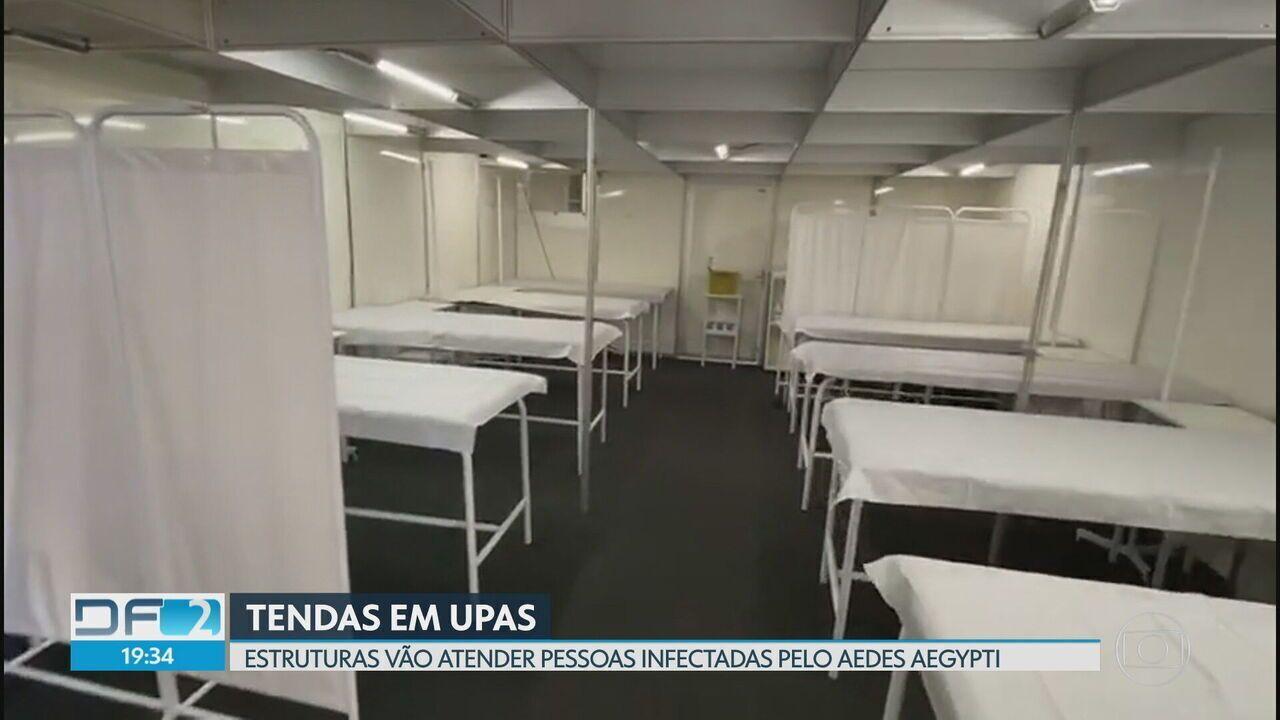 Upa de Sobradinho e Ceilândia ganham tendas para atender pessoas com Dengue
