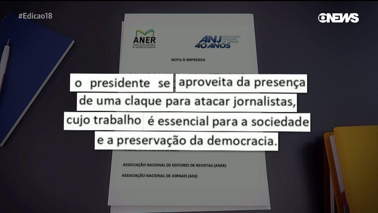 Entidades de jornalismo reagem às insinuações de Bolsonaro contra uma repórter