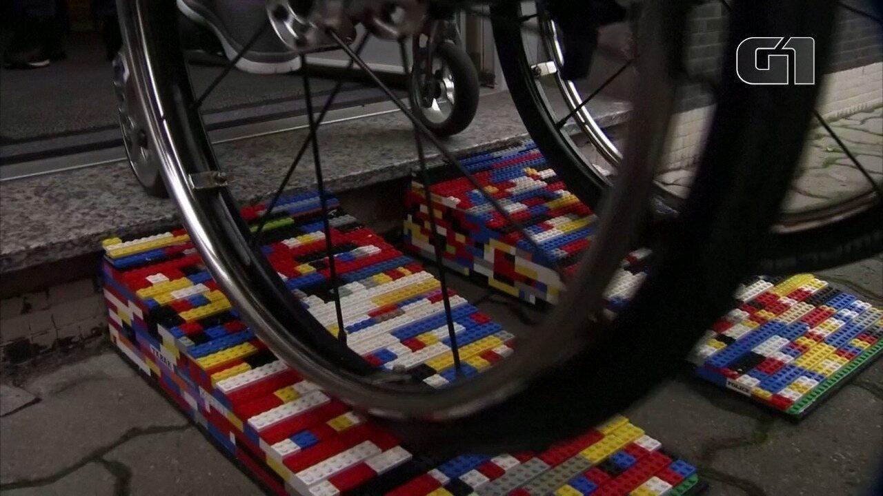 Vovó alemã constrói rampas de Lego para combater falta de acessibilidade