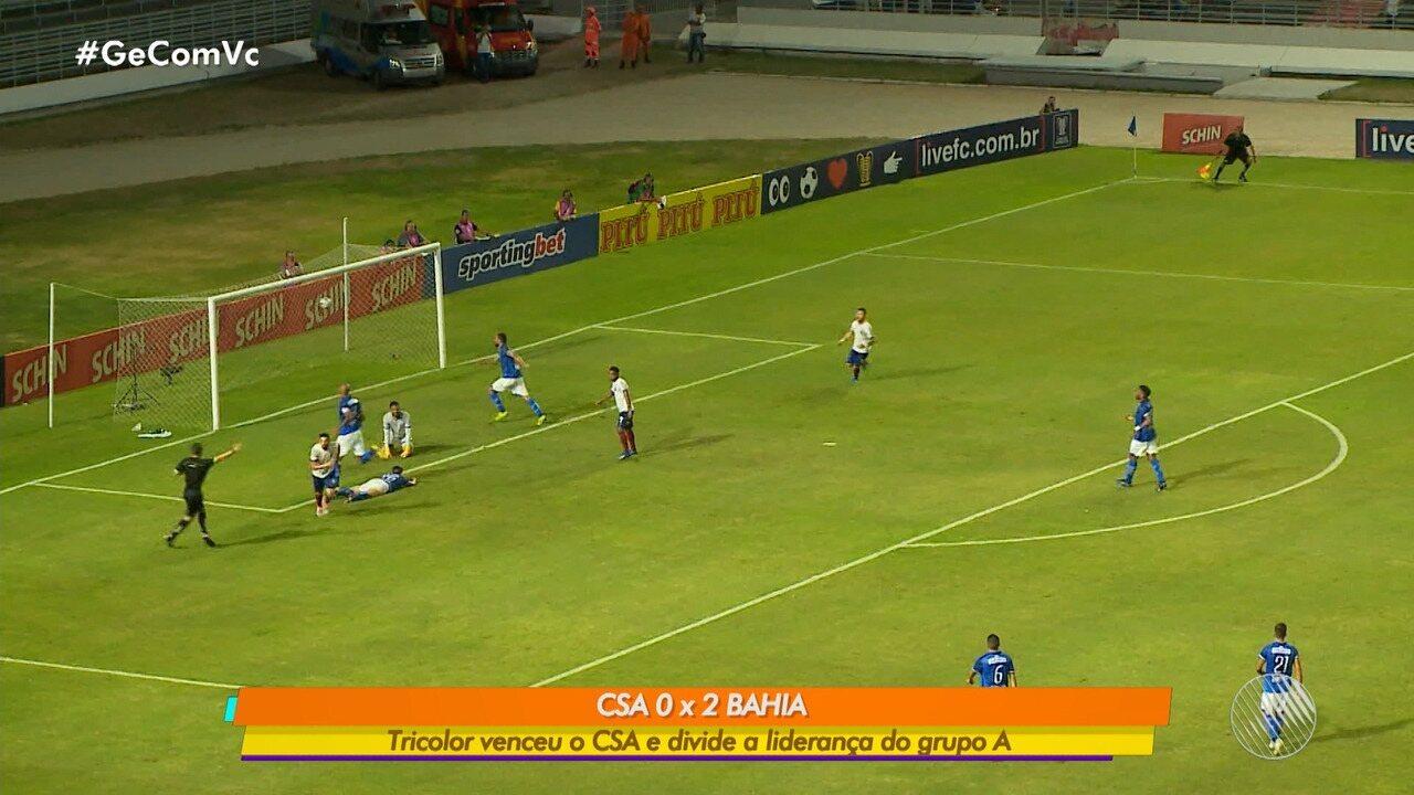 Copa do Nordeste: Bahia vence o CSA de 2 a 0 e divide liderança do grupo A