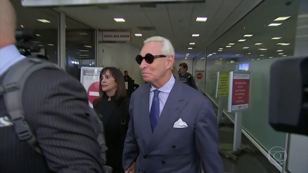 Roger Stone, amigo de Trump, é condenado a três anos de prisão