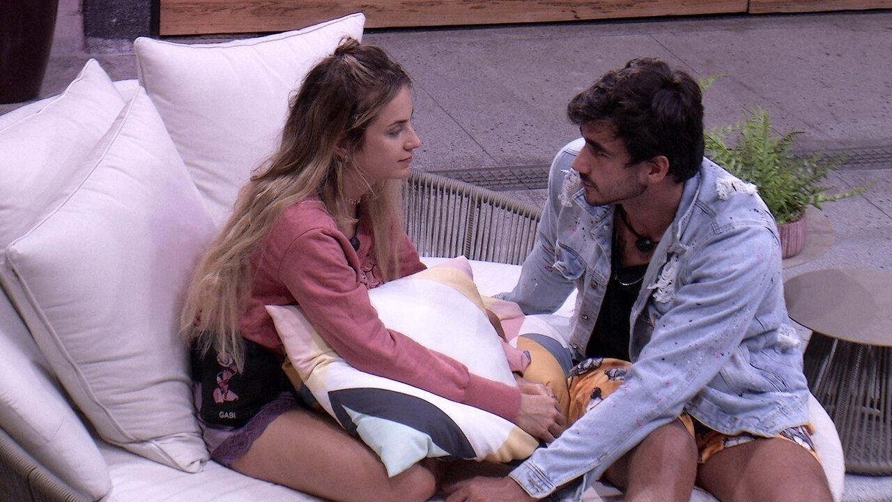 Guilherme fala para Gabi: 'Vou entender todas as suas decisões'