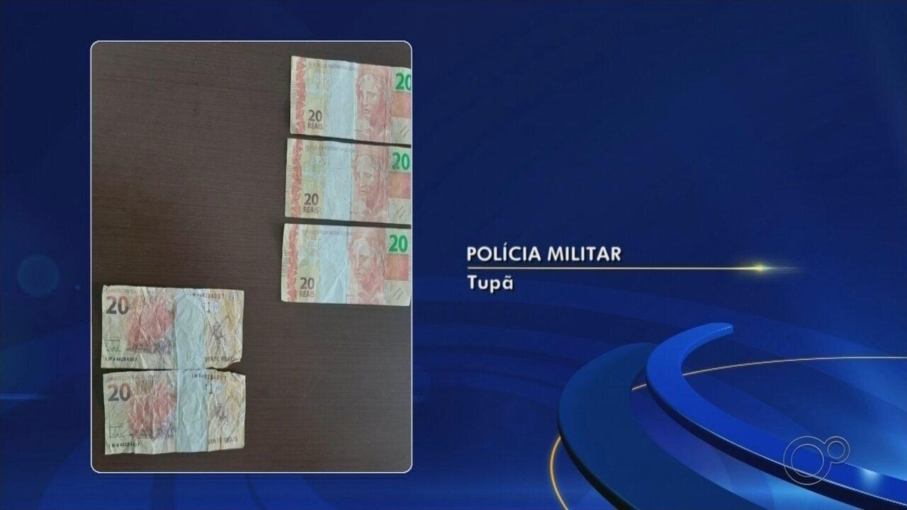 Polícia é acionada após aluno passar notas falsas em cantina de escola em Tupã