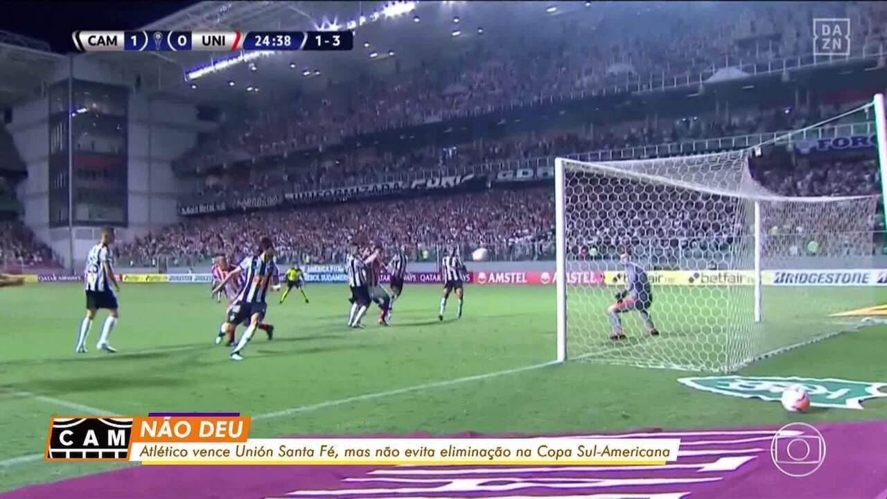 Não deu! Atlético-MG vence o Unión Santa Fé, mas não evita eliminação na Sul-Americana