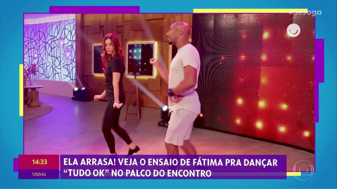 Confira os bastidores de Fátima Bernardes dançando a coreografia de ´Tudo OK´