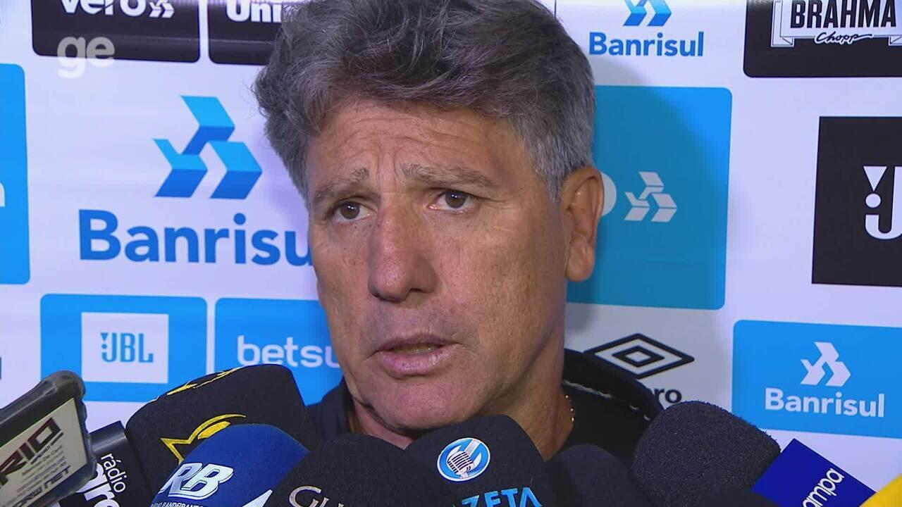 Confira a entrevista coletiva de Renato Portaluppi após derrota para o Caxias