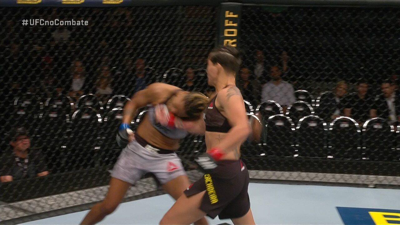 Melhores Momentos de Priscila Pedrita x Shana Dobson no UFC Auckland, em 22/02/2020