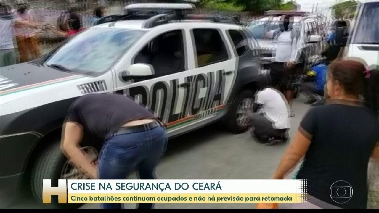 Paralisação de PMs no Ceará chega ao 8º dia com cinco batalhões ocupados