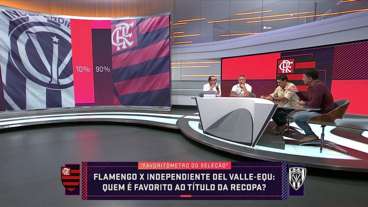 """""""Favoritômetro"""": Comentaristas apostam entre Flamengo e Independiente del Valle"""