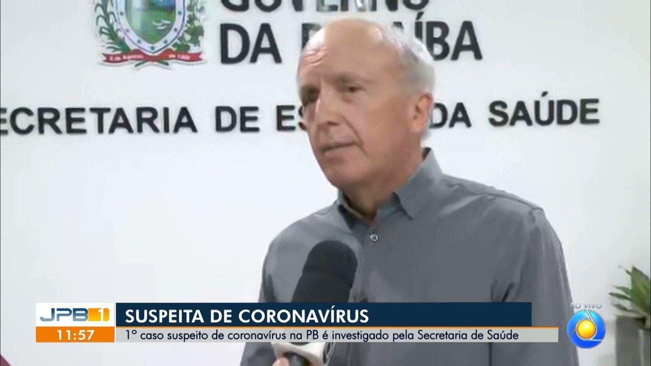Caso suspeito de coronavírus está internado em João Pessoa