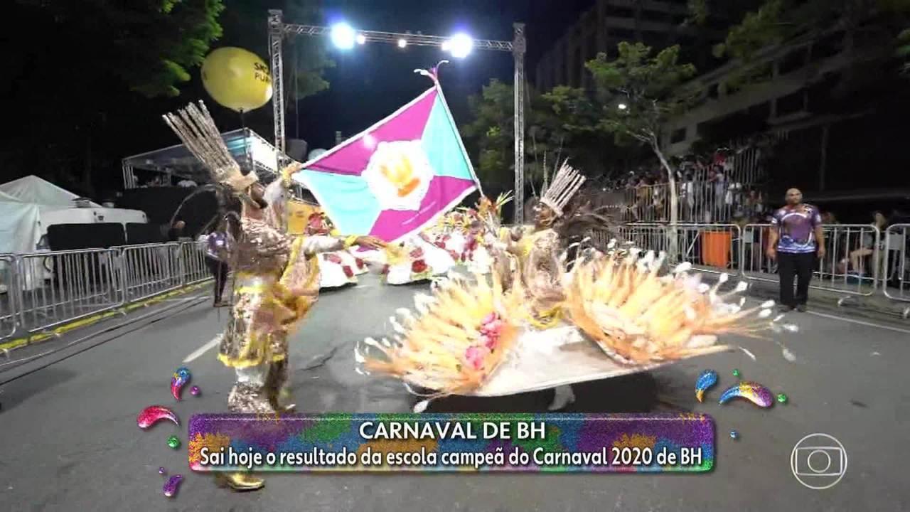 Resultado da escola de samba campeã do carnaval de BH sai na tarde desta quinta-feira