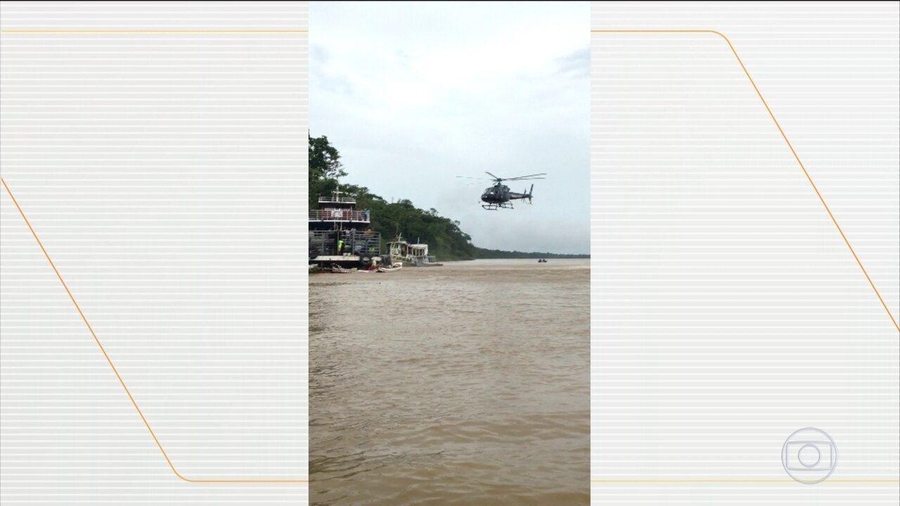 Bombeiros retomam buscas por desaparecidos após naufrágio no Amapá