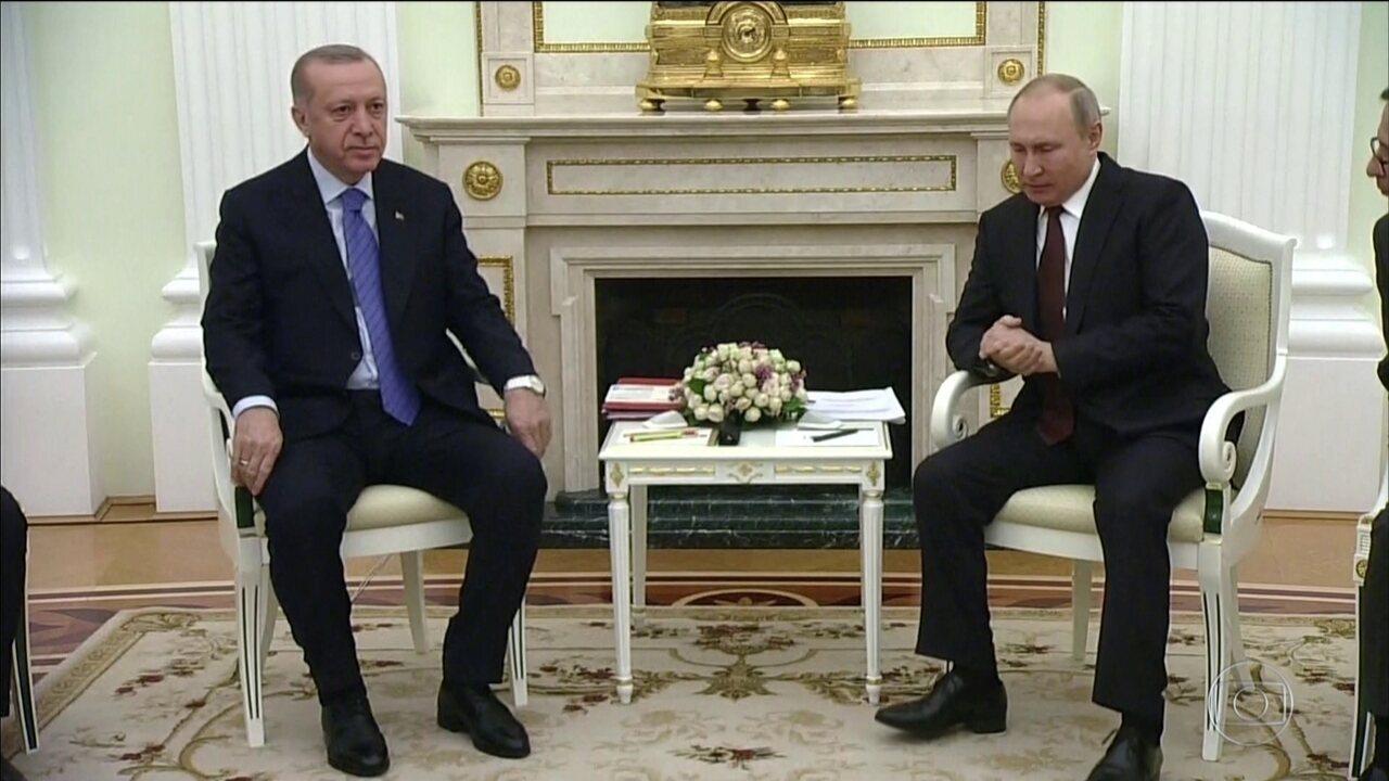 Presidentes de Turquia e Rússia se reúnem para solucionar escalada de tensões em Idlib