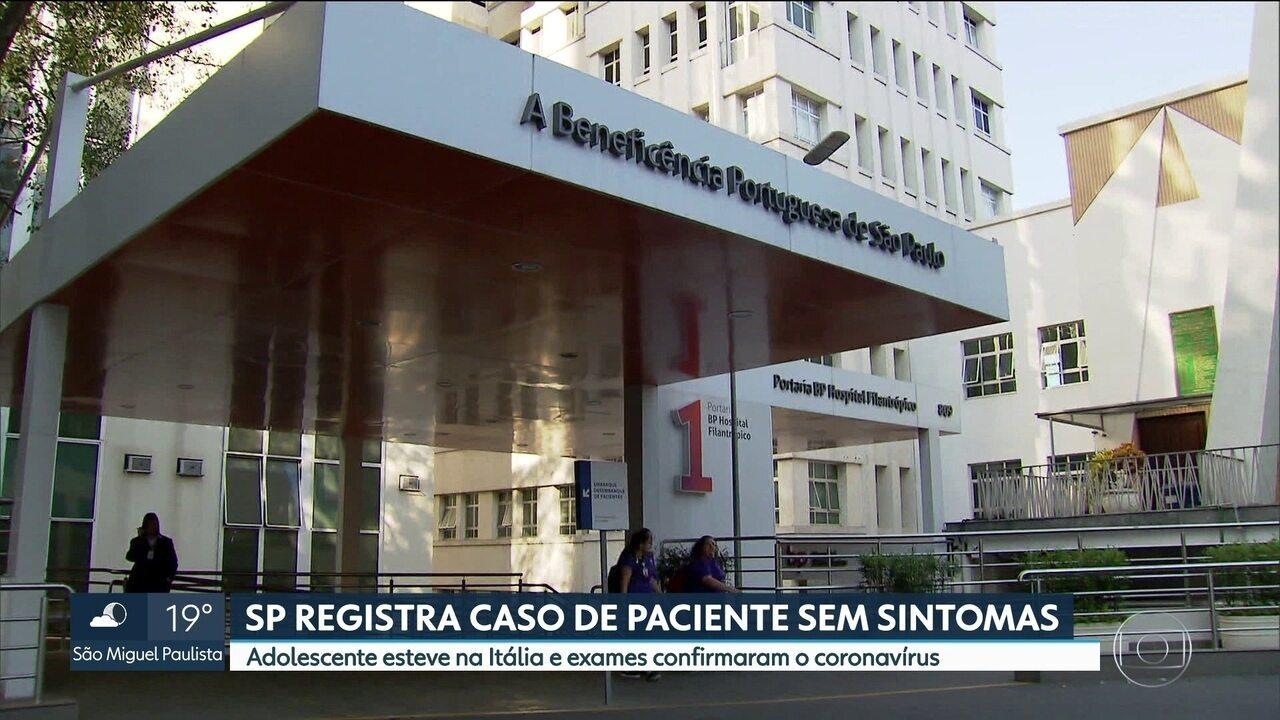 Entre os 6 casos confirmados de coronavírus na capital, uma paciente está assintomática