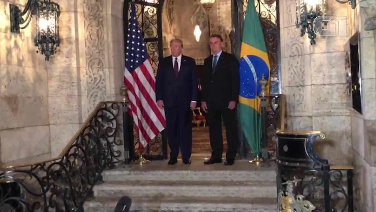 Donald Trump encontra Jair Bolsonaro em Mar-a-Lago, nos EUA