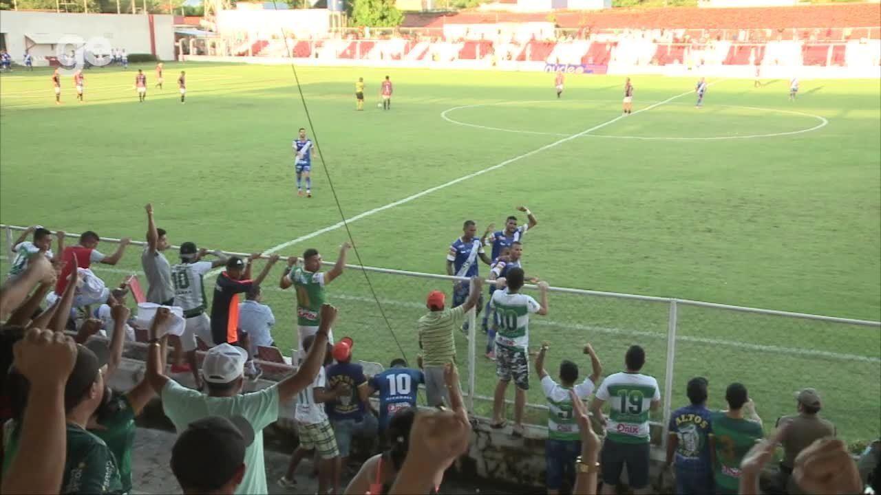 Netinho anotou o gol que garantiu a vitória do Altos por 1 a 0 sobre o River-PI na 5ª rodada do Campeonato Piauiense