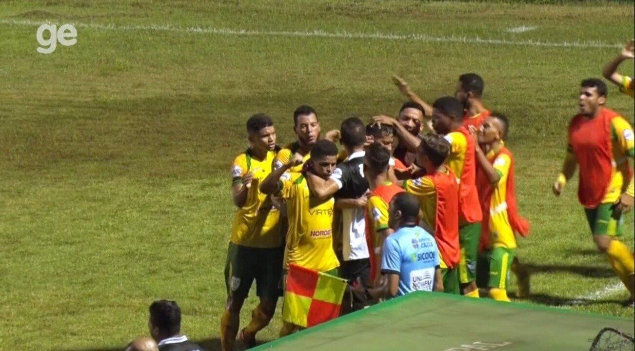 Os gols de Picos 3 x 1 Timon-PI pela nona rodada do Piauiense