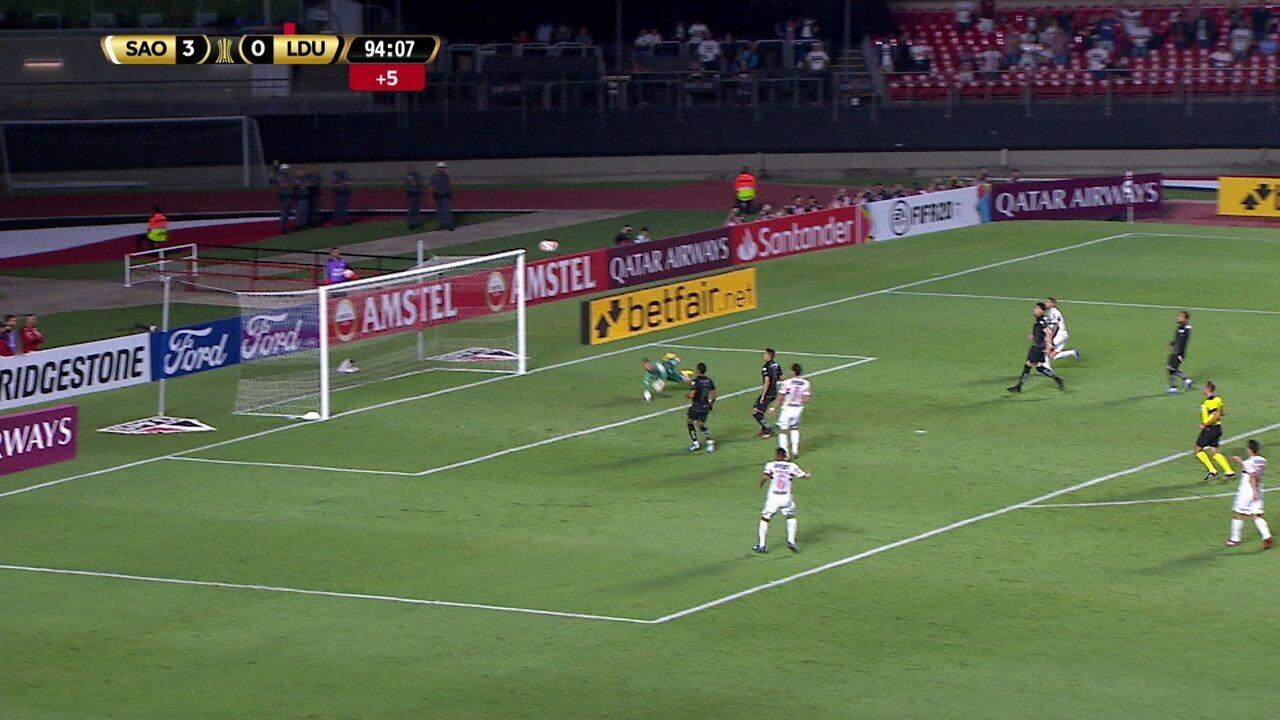 Melhores momentos de São Paulo 3 x 0 LDU pela Taça Libertadores