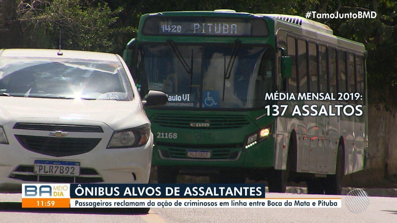 Usuários de transporte público reclamam da falta de segurança nos ônibus de Salvador