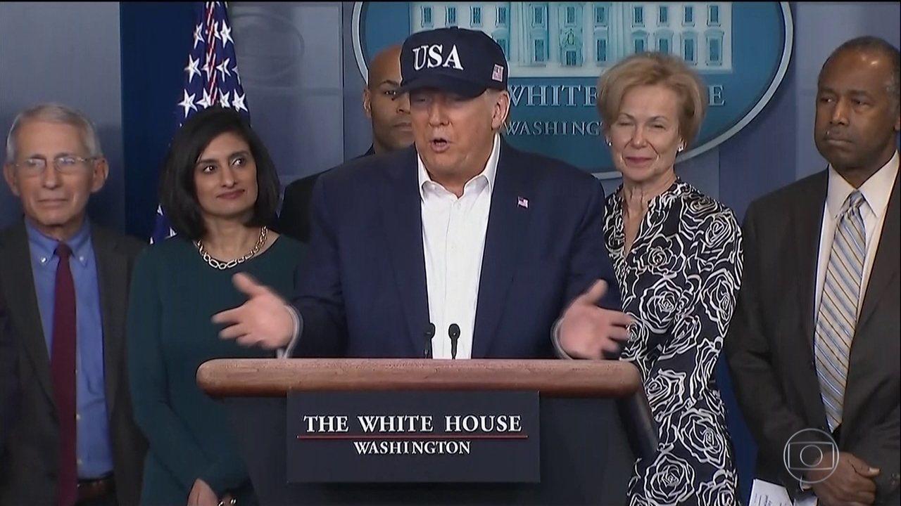 Teste do presidente dos EUA, Donald Trump, deu negativo para coronavírus