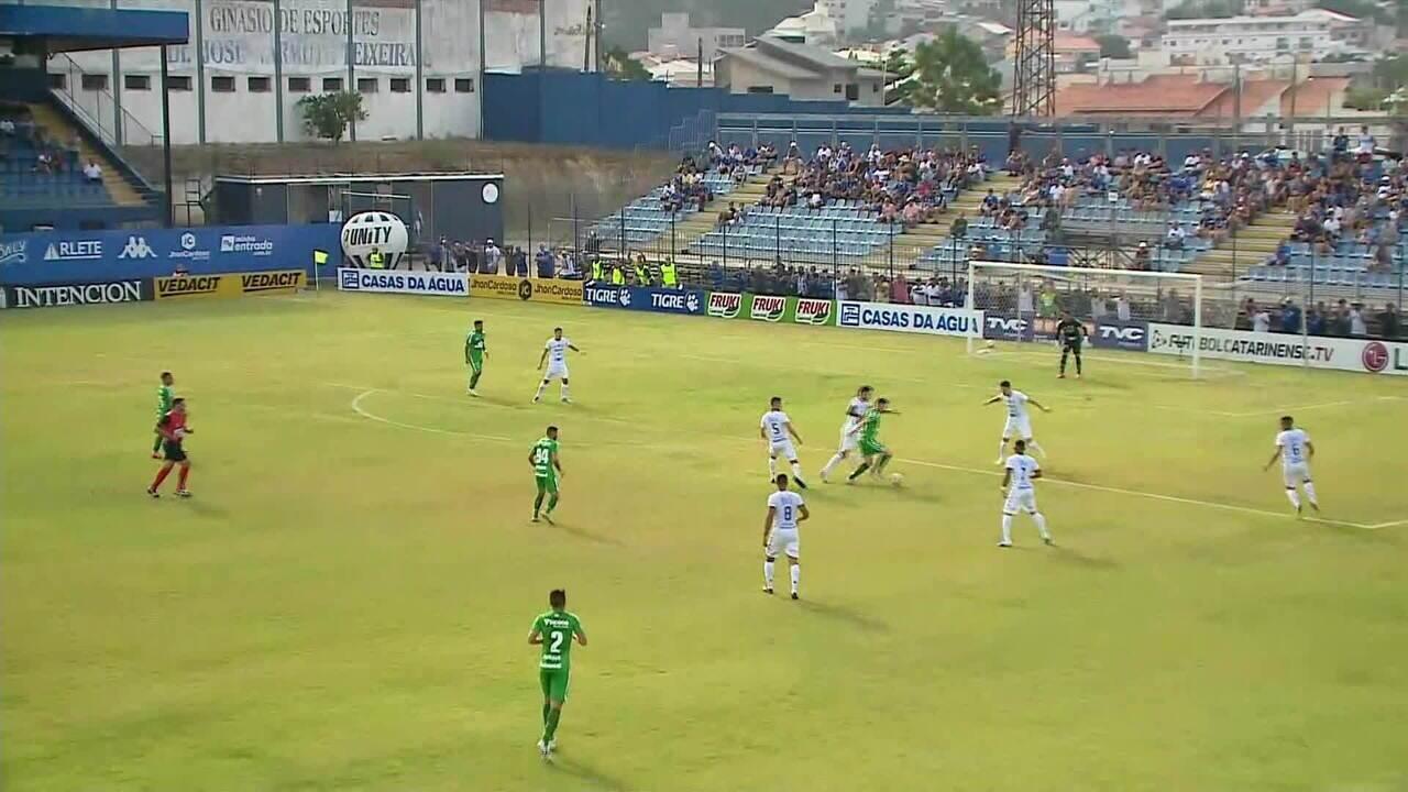 Assista aos gols de Tubarão 1 x 3 Chapecoense pelo Catarinense