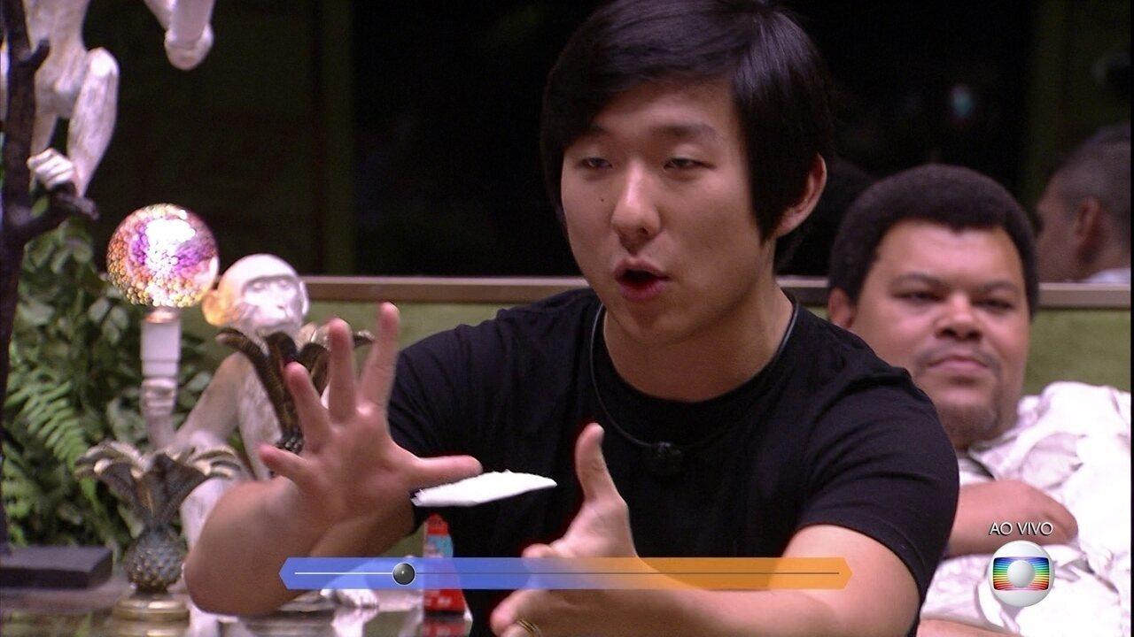 Pyong defende sua permanência na casa