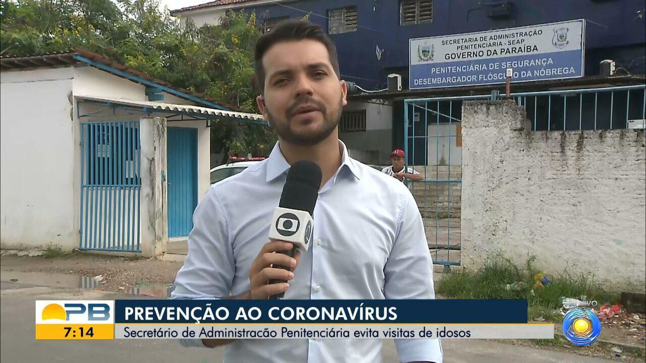 Presídios da PB suspendem visitas de idosos e doentes em medida contra coronavírus