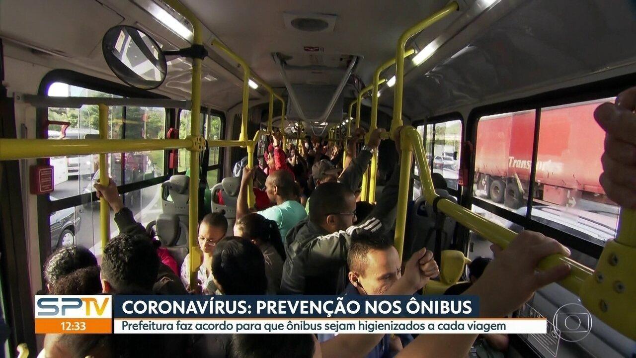 Prefeitura faz acordo para que ônibus sejam higienizados a cada viagem