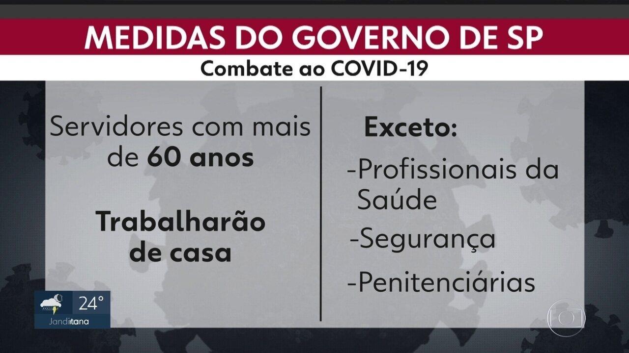 Governo-SP e prefeitura da capital anunciam medidas contra a COVID-19