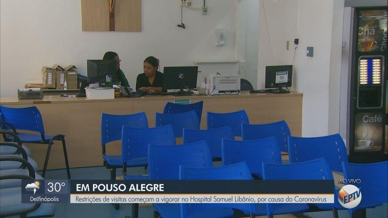 Restrições de visitas começam a vigorar no Hospital Samuel Libânio, em Pouso Alegre