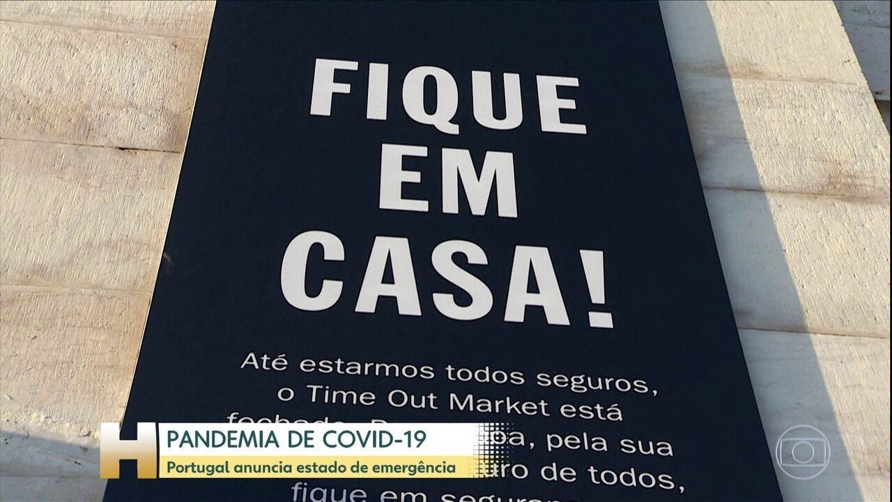 Portugal anuncia estado de emergência por causa de novo coronavírus