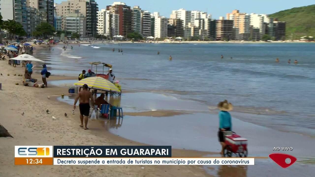 Coronavírus: Prefeitura de Guarapari proíbe entrada de veículos de turismo na cidade