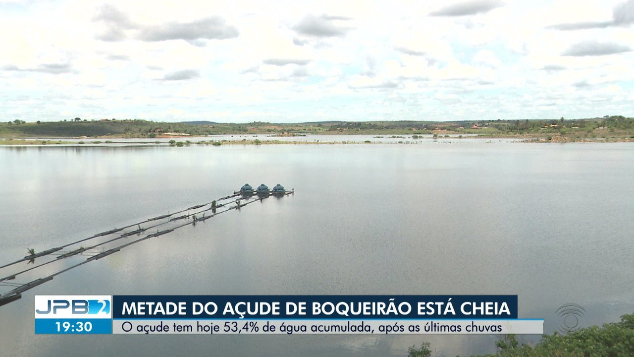 Após chuvas no cariri, açude de Boqueirão aumenta de volume
