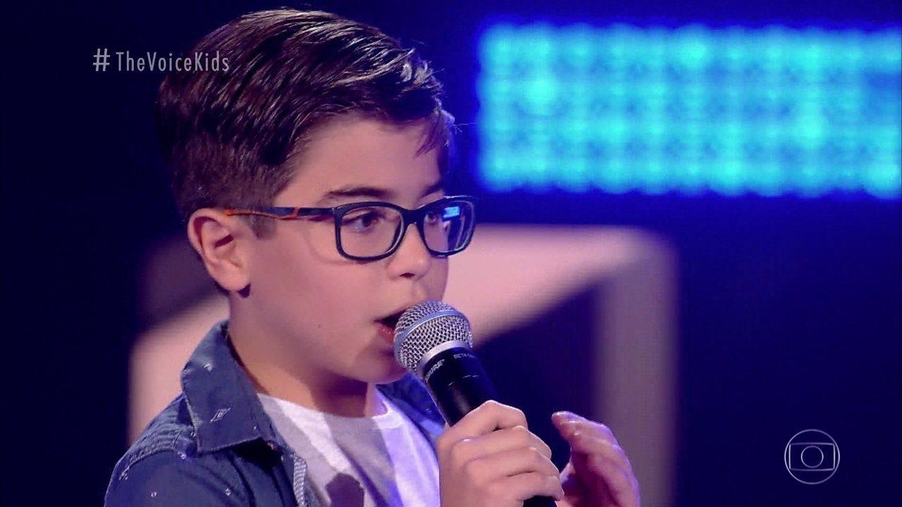 Melhores Momentos Audições às Cegas: Lucas Mohallem canta 'A Lenda'