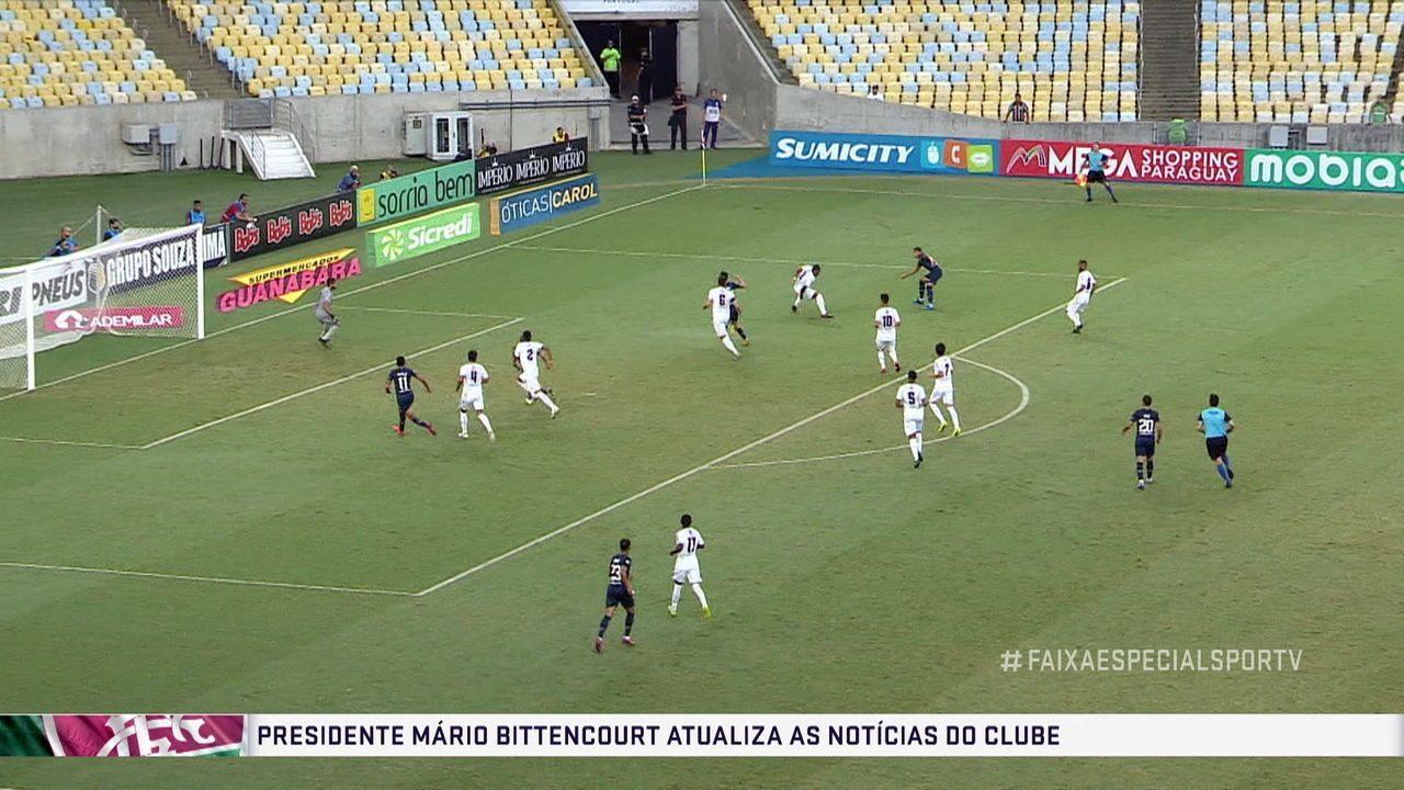 Presidente do Fluminense, Mário Bittencourt fala da situação atual do clube