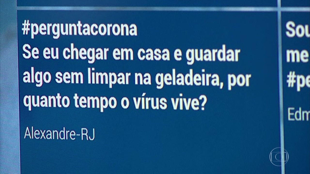 Alimentos não higienizados podem permanecer com coronavírus na geladeira
