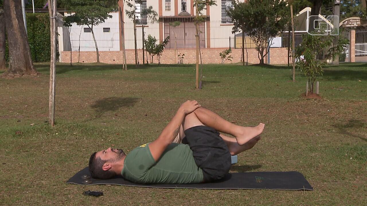 Yoga na quarentena: relaxe e mentalize coisas boas com a ajuda do G1 Paraná (aula 1)