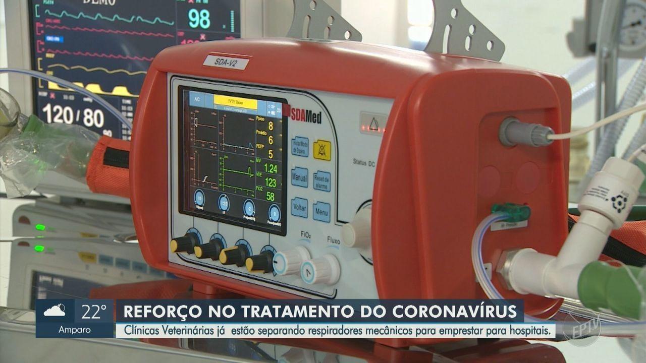 Clínicas veterinárias emprestam respiradores mecânicos para hospitais