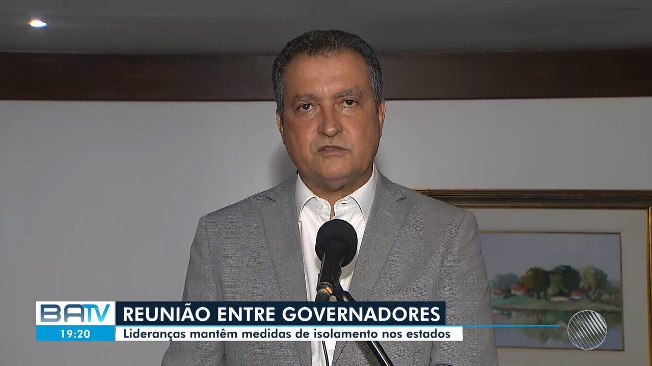 Governadores de estados brasileiros decidem manter medidas de prevenção ao coronavírus